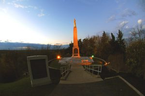 Statue of Moroni on top of the Hill Cumorah